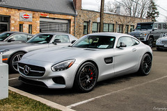 2016 Mercedes-AMG GT S (Rivitography) Tags: rare exotic fast car expensive horsepower luxury greenwich connecticut 2018 canon rebel t3 adobe lightroom rivitography mercedes mercedesbenz amg gt s silver