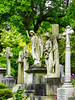 Heaven's Angels (Steve Taylor (Photography)) Tags: angel green yellow mauve pink stone uk gb england greatbritain unitedkingdom london tree bush flower ivy cemetery cemetry grave graveyard headstone highgatecemetry highgate marble tomb
