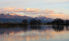 Good Morning! Happy Easter! (Patricia Henschen) Tags: sunrise morning mountains collegiatepeaks sawatch range clouds reflection trees frantzlake swa statewildlifearea salida colorado mtprinceton mt antero 14ers alpenglow princeton upperarkansasvalley