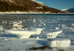 Ice tables (Dalis.V) Tags: winter lapland lofoten norway ice fjord snow