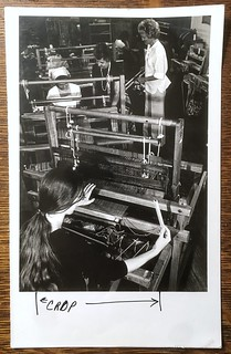 Students working on Leclerc counterbalance looms, file photo