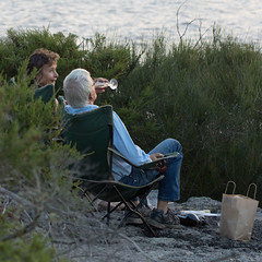 Wine by sunset (OzzRod) Tags: pentax k3 hdpentaxdfa150450mmf4556 people candid sunset drinks bush view jervisbay