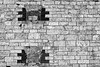 Another Brick in the Wall (iecharleton) Tags: brick masonry cracked old antique decay fort fortadams statepark architecture crumble building fortress abstract ecmrecordcover blackandwhite monochrome windows
