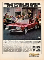 1980 Oldsmobile Cutlass Supreme Coupe (aldenjewell) Tags: 1980 oldsmobile cutlass supreme coupe ad