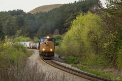 CSX Q211 at Emerson Bypass S-Curve (travisnewman100) Tags: csx train freight manifest autorack emd sd70mac wa subdivision atlanta division north emerson s curve railroad q211