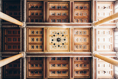 National Archives of Finland (Bunaro) Tags: kansallisarkisto national archive helsinki suomi finland interior design magnificent architecture ceiling symmetry geometry classical abstract squares rectangles aula lobby hallway