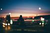 Indigo (Louis Dazy) Tags: 35mm analog film double exposure bokeh sunset sunrise alone silhouette bench vancouver eastvan