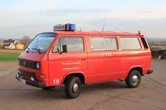 VW T3 (Michels Bilderarchiv) Tags: vw volkswagen t3 transporter van einsatz blaulicht fahrzeug fire feuerwehr bus bulli