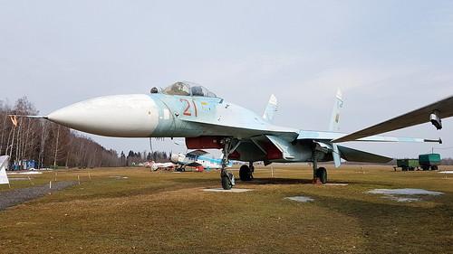 Sukhoi Su.27P c/n 36911019717 Belarus Air Force code 21 red Preserved at Nova Pashkovo, Belarus