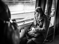 Tramspotting (Henka69) Tags: publictransportation commute tram streetphotography monochrome