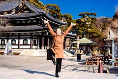 Funky Women at Hase Temple (Dakiny) Tags: 2018 winter february japan kanagawa kamakura hase city street temple hasetemple people portrait woman girl nikon d750 nikonclubit