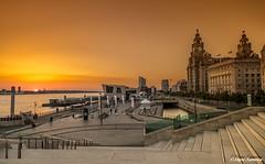 Liverpool sunset (Steve Samosa Photography) Tags: rivermersey waterfront sunset pierhead liverpool england unitedkingdom gb