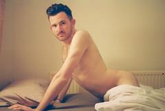 Prowl (Karsten Fatur) Tags: portrait model malemodel naked nude nudemodel skin bed lgbt lgbtq queer queerart gay film 35mm analogue light lighting naturallighting naturallight london england