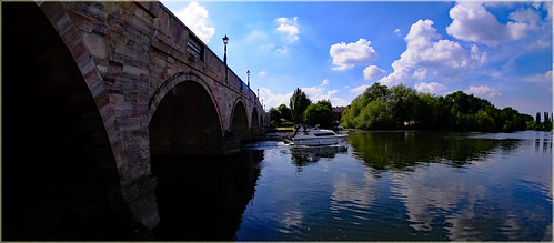 River Thames at Chertsey Bridge