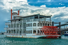 Singapore - May 25, 2018: Riverboat moored in Marina (per.svensson@mac.com) Tags: sunny resturant cloudy marinasouthpier riverboat stewords sightseeing paddelwheel travel steamboat tourist singapore tourism terminal old vacations sea family holidayevent 2018 seashore pier water vacation ocean grill 25 outdoors moored watercraft transportationsystem nautical holiday south ship sky boat gastrobar may santafee marina