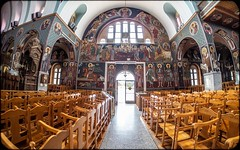 Cyprus 2018. . . (CWhatPhotos) Tags: cwhatphotos 2018 april digital camera pictures picture image images photo photos foto fotos that have which contain olympus holiday 43 micro four thirds penf protaras cyprus eastern building buildings old town square architecture samyang 75mm fisheye prime lens fish eye saint george church paralimni inside golden view wide angle roof painting paintings