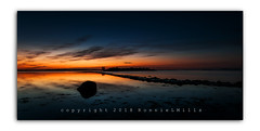Entrée (RonnieLMills 5 Million Views. Thank You All :)) Tags: sunrise dawn early morning colours reflections orange blue strangford lough high tide still waters rough island islandhill stone causeway ronnielmills landscape photography comber newtownards county down northern ireland entrée