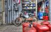 Marocco #4 (celestino2011) Tags: motorino negozio bombole rosso hdr marocco fes telefono