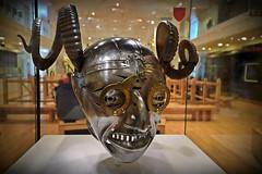 Horned Helmet (inreflection) Tags: lightroom king helmet armour kinghenry leedsarmoury nikon nikond600 sigma royalarmouries henryviii