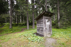 Pure Nature (CoolMcFlash) Tags: humor privy outhouse wc toillette forest wood trees nature canon eos 60d austria carinthia lustig plumpsklo klo wald holz bäume natur österreich kärnten fotografie photography sigma 1020mm 35 absence