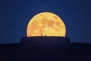 Moonrise over Ancient Ring Fort of
