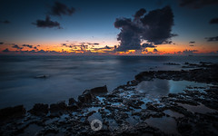 Blue Hour Glow (RTA Photography) Tags: cyprus sunset dusk bluehour clouds rocks sea outdoors nature rtaphotography nikon d750 fullframe fx seascape nikkor1835 18mm mediterranean sky pools paphos pafos venus planet earth ship horizon glow longexposure water calm blue