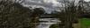 Ochiltree Weir On River Ayr (Brian Still Travelling) Tags: pentax kr scotland ochiltree ayrshire weir bridge river riverayr trees pentaxkr bushes grass water