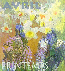 Avril Printemps/April Spring (virtually_supine) Tags: tmichallengespringingintoapril daffodils narcissus grapehyacinth spring april avril printemps kreativepeoplett194sourceimagebyskagitrenee text font digitalartwork poster photomanipulation flowers textures layers digitalpainting creative collage montage painterlyeffects drybrush simpledaubs photoshopelements13formac