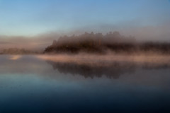 A deafening silence (A Costigan (Off for a while)) Tags: fog mist water resevoir trees serene tranquil peaceful reflection canon80d ireland irish