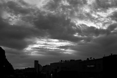 Clouds Over California St 6 Mono (TheseusPhoto) Tags: clouds cloudscape sky skyporn dusk sunset light sanfrancisco california nature naturephotography natureporn beautyinnature beautiful monochrome bnw blancoynegro blackandwhite