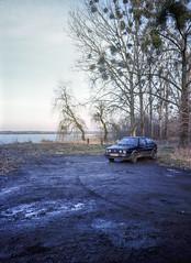 Pławniowice, Poland. (wojszyca) Tags: fuji fujica gsw680iii 6x8 120 mediumformat fujinon sw 65mm gossen lunaprosbc kodak ektachrome e100g epson v800 soloparking carspotting winter cold mud parking car
