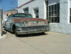 1958 Buick Super (jHc__johart) Tags: car buick garage building window door kansas 1958buicksuper