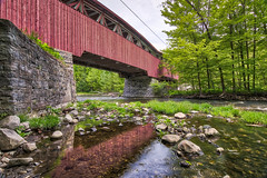 Water Under the Bridge (Kevin Tataryn) Tags: quebec history coveredbridge river flowing longexposure hdr aurora powerscourt nikon d500 tokina 1116 canada country roads