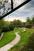 Parc de Belleville (auréliemaupilé) Tags: paris parcdebelleville parc la défenseé ladéfense soleil couleurs nuages chemin herbe pelouse nature