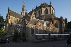 Haarlem, Grote Kerk of St Bavo (Hector Patrick) Tags: fujifilmxpro2 haarlem holland zeisstuoit12f28 church fuji cross tower sunlight belfry contrast flickrelite flickr netherlands