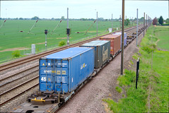 Overton Bridge Containers (Ravensthorpe) Tags: york rail trains wagons