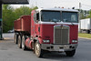 1991 Kenworth cabover pulling an old semi dump (Thumpr455) Tags: 1991 kenworth cabover pulling semi dump dumptruck coe red worn greer sc southcarolina blueridge heavymachinery redandwhite kw dirt nikon d5500 1855mmf3556