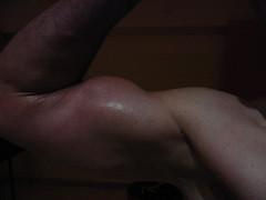 BIG BULGING BICEPS (FLEX ROGERS) Tags: 18inch big guns flex flexing abs chest pecs workout