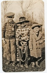 Looks like the cowboys and city slicker cousin (rfulton) Tags: foundpictures foundphotos children vintagekids vintage found