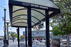 Porter Square (AntyDiluvian) Tags: boston massachusetts cambridge portersquare t mbta subway redline station busshelter massave massachusettsavenue