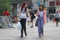People walking through Cooper Square. (kevinrubin) Tags: newyorkcity street streetphotography nyc newyork unitedstates us