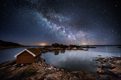 Movika milkyway (Torehegg) Tags: norway milkyway austagder night nightshot nightsky grimstad fevik sea sky sjø panorama seascape sørlandet