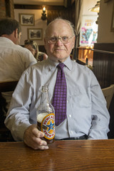 DSC_7413 Brigg North Lincolnshire Bridge Street The White Hart Marston's English Pub Geoff Spafford with Bottle of Newcastle Brown Ale (photographer695) Tags: brigg north lincolnshire bridge street the white hart marstons english pub geoff spafford with bottle newcastle brown ale