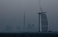 Vision (\Nicolas/) Tags: palm jumeirah dubai dubaï downtown burj alarab arab hotel khalifa tower skyscrapper sea gulf island dusk