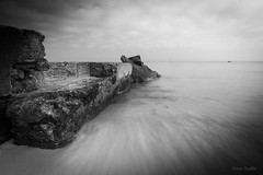 Black and white ocean (corineouellet) Tags: nature landscape canonphoto canon ocean longpose longexposure blackandwhite