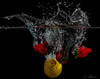 Sweet and Sour 2 (Andreas Stamm) Tags: food splash sweetandsour zitrone erdbeeren lemon strawberry drop droplets tropfen wasser water red rot gelb yellow green grün