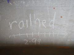 Railhed (Railroad Rat) Tags: freight train riding hopping graffiti monikers art railroad dumpster diving camping reclaim traveling wander america united states union pacific culture high desert snow feather river route overland