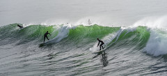 Green Wave at Steamers Lane (fotographis) Tags: santacruz steamerslane surf surfing wave green california ocean water fuji nikkor nikon180mm 180mm gfx gfx50s spray