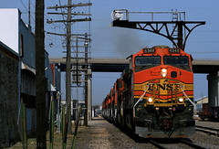 Light Power to Emporia (Jeff Carlson_82) Tags: bnsf ge c449w lightpower litepower powermove 4348 topeka topekasub cantilever signal codeline kansas ks train railroad railfan railway