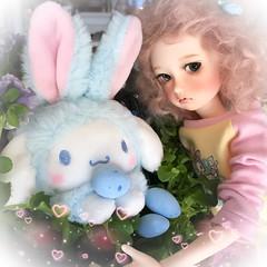 Happy Easter (assamcat) Tags: bjd balljointeddoll abjd msd imda soom cinnamaroll sanrio easterbunny spring iphone instagram